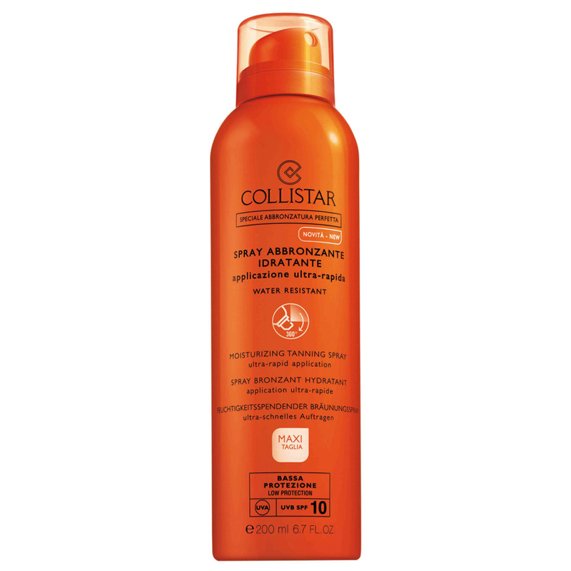 Collistar Self Tan Moisturizing Tanning Spray Ultra Rapid Application Spf10