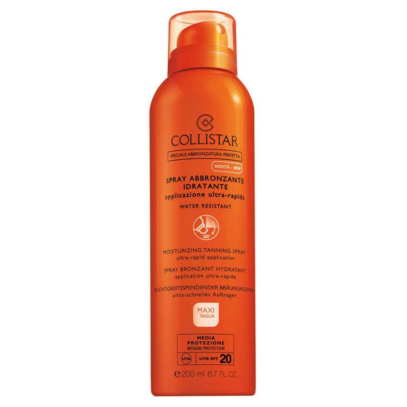 Collistar Self Tan Moisturizing Tanning Spray Ultra Rapid Application Spf20
